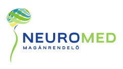 Neuromed magánrendelő színes ikonja kék és zöld színben