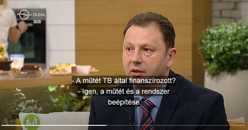 dr. Valálik István idegsebész beszél a Duna TV műsorában