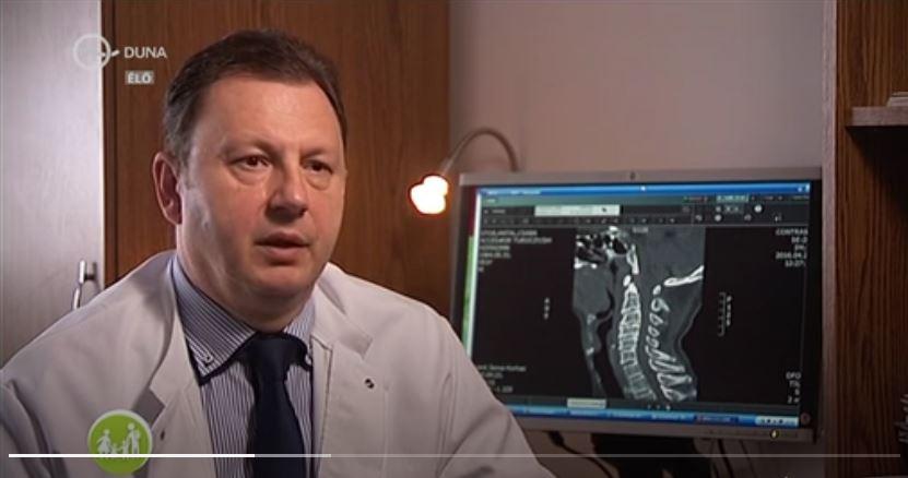 Duna Tv-ben dr. Valálik István a nyaki porckorongsérvről