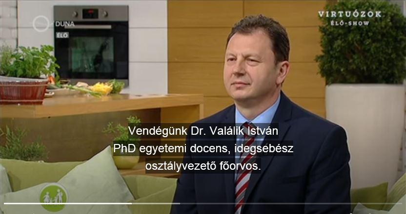 családbarát műsorban dr. Valálik István PhD beszél