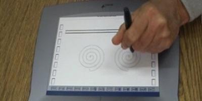 Spirál rajzolása digitalizáló tableten